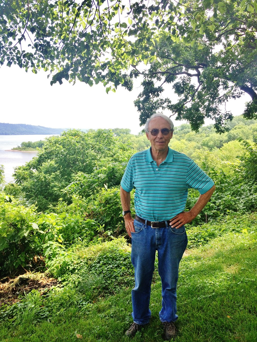Bruce Ause at the head of Lake Pepin