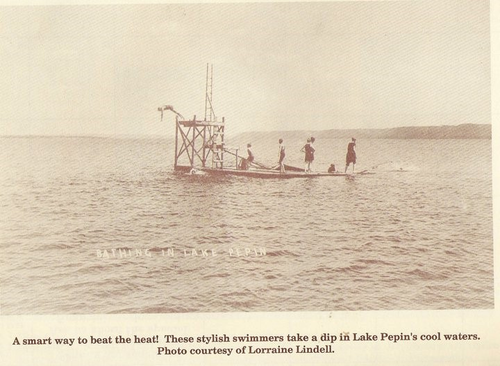 Local diving boards just offshore from historic Bay City, WI.