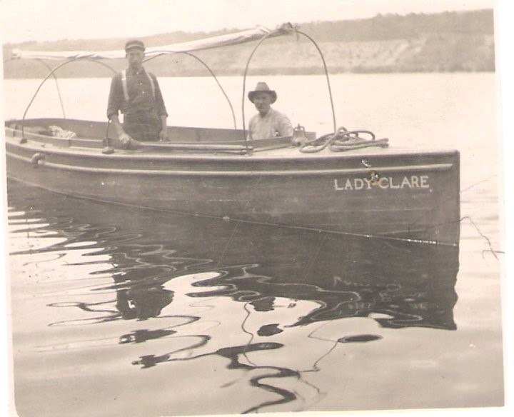 O.E. Dosdall is one of his several boats. In addition to fishing, he would also ferry people between Minnesota and Wisconsin.