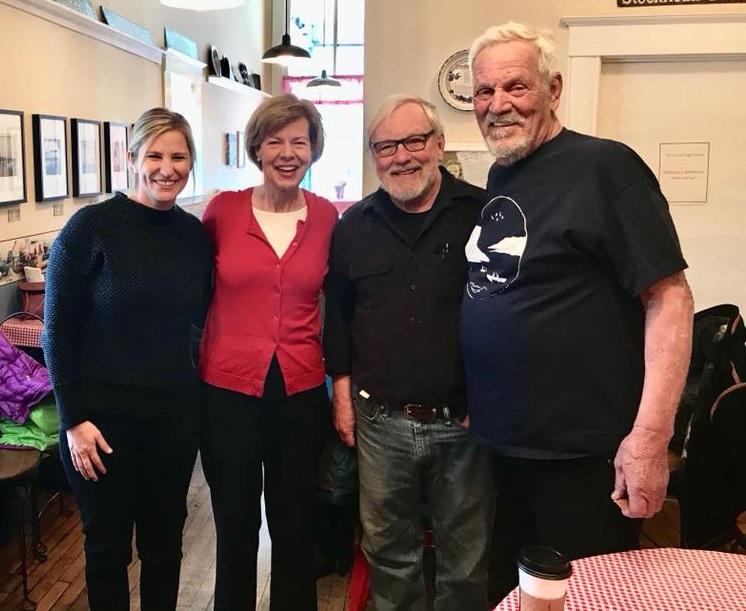 LPLA Executive Director, Rylee Main, with U.S. Senator Tammy Baldwin at the Stockholm Pie & General Store.