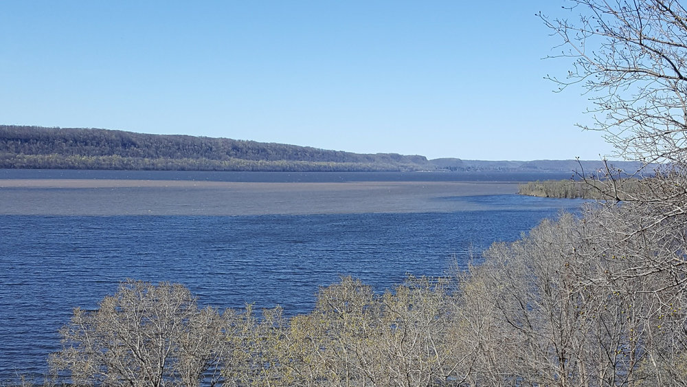 Sediment plume in Lake Pepin.