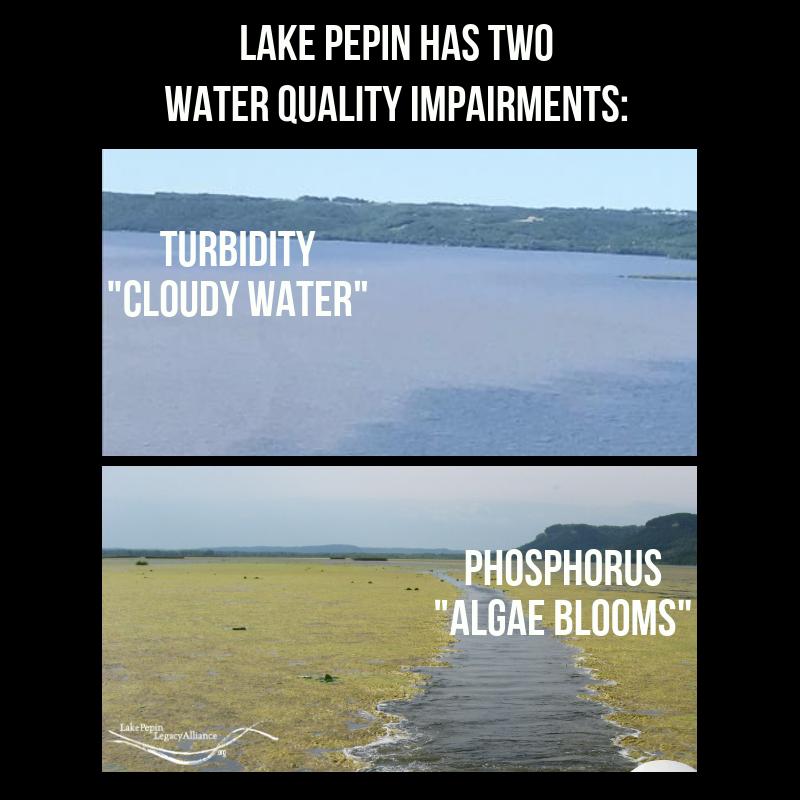 Lake Pepin Water Quality Impairments Turbidity and Phosphorus