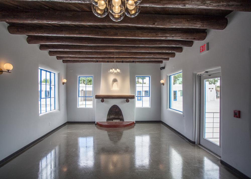 Hotel Kiva Fireplace After Renovation