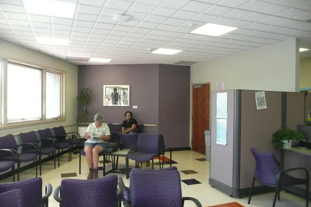 Waiting Room Before Renovation