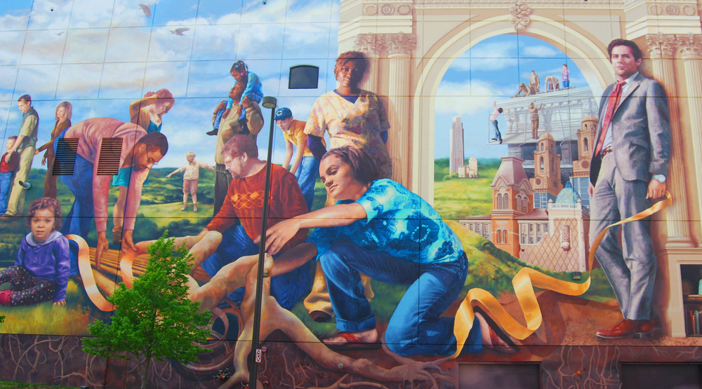 Murals meg saligman for Common threads mural