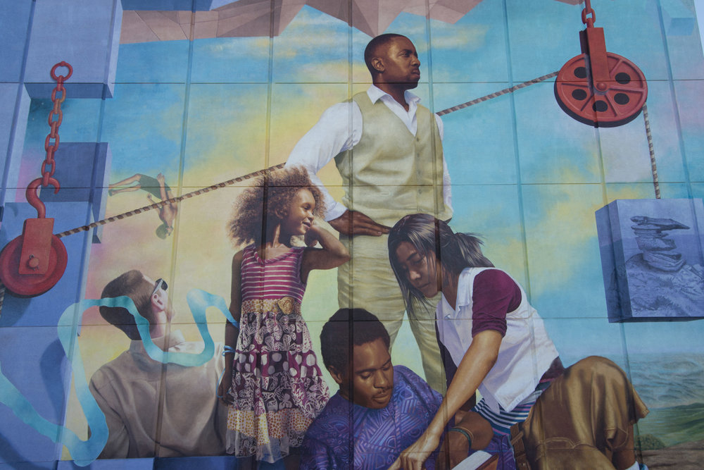 Mega-scale murals     Permanent, community-centered landmarks, always site specific and socially engaged.