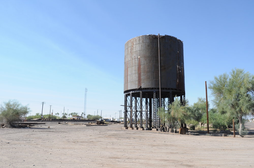 The water tower site MLS Studio is reimagining in collaboration with the town of Gila Bend.