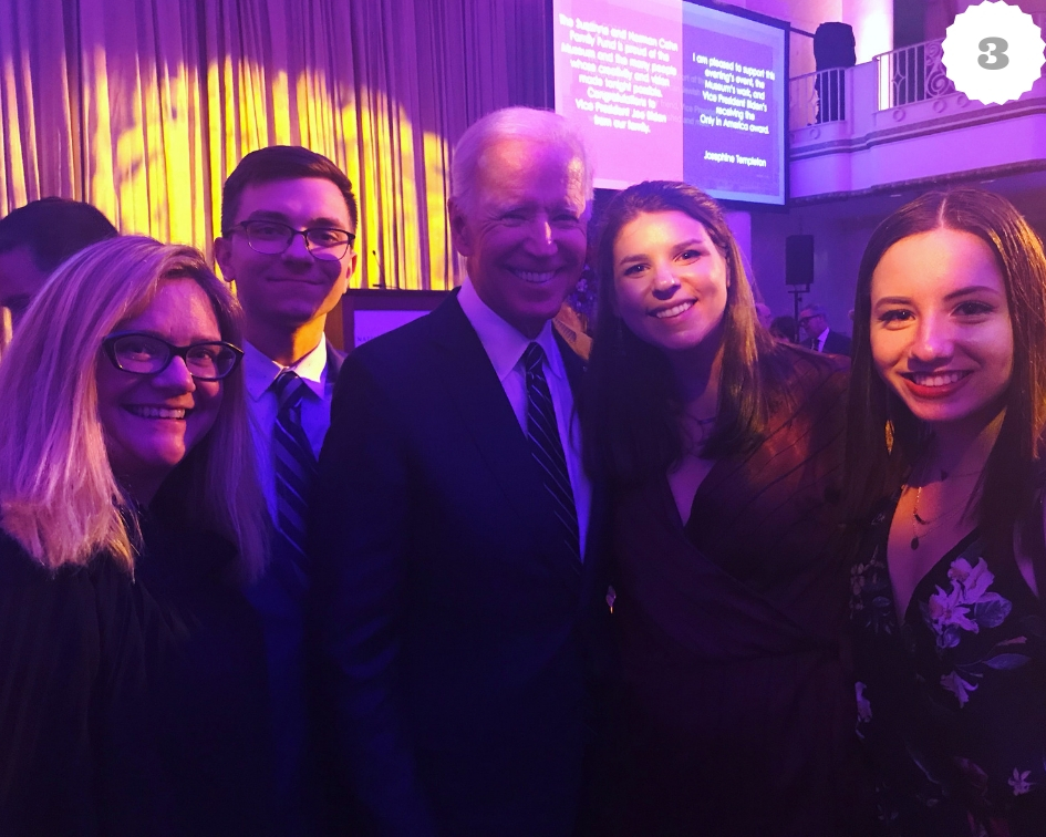 Then there was us meeting Joe Biden. Enough said.