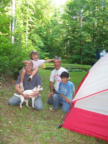 Family camping at Holy Ground Farm