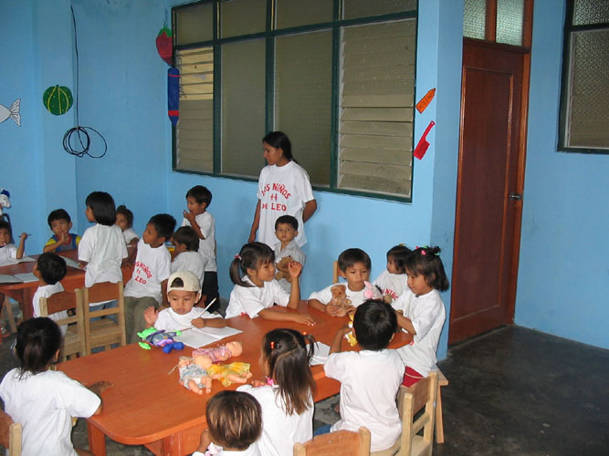 Classroom in preschool sponsored by Holy Ground Farm