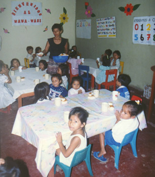 Leon's WaWa-WaSi Day Care Center in Iquitos, Peru.