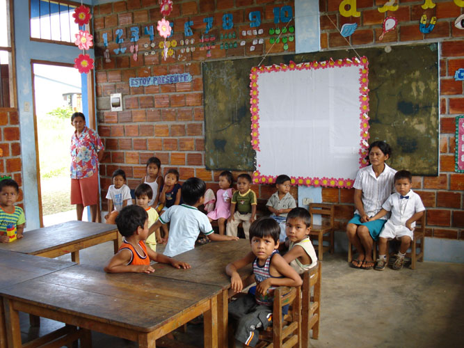 One of several rural kindergarten class rooms.