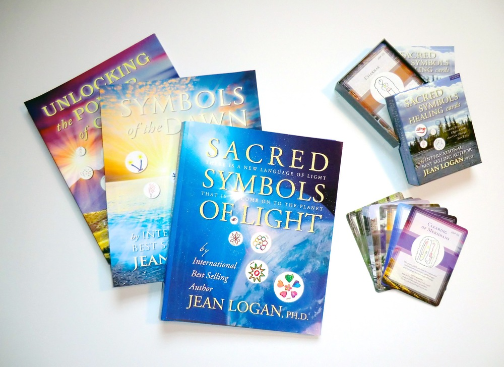 Dr. Jean Logan's 3 Healing Glyph Books and Card Deck