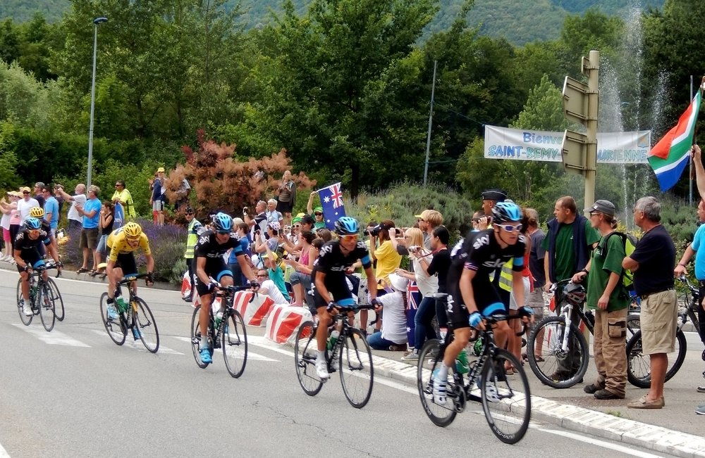 Team Sky at the Tour de France