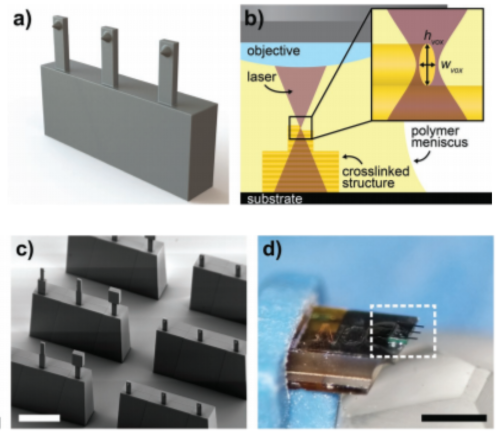 Polymeric 3D printed probes and the utilised 3D printing system. ©  Alsharif et al.