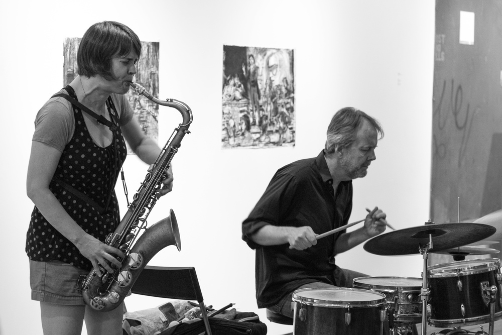 Ingrid Laubrock and Tom Rainey, 2016