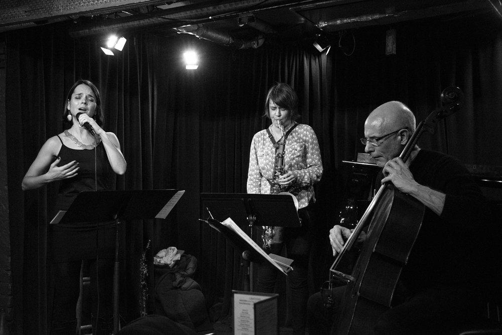 Sara Serpa, Ingrid Laubrock, Erik Friedlander, 2017