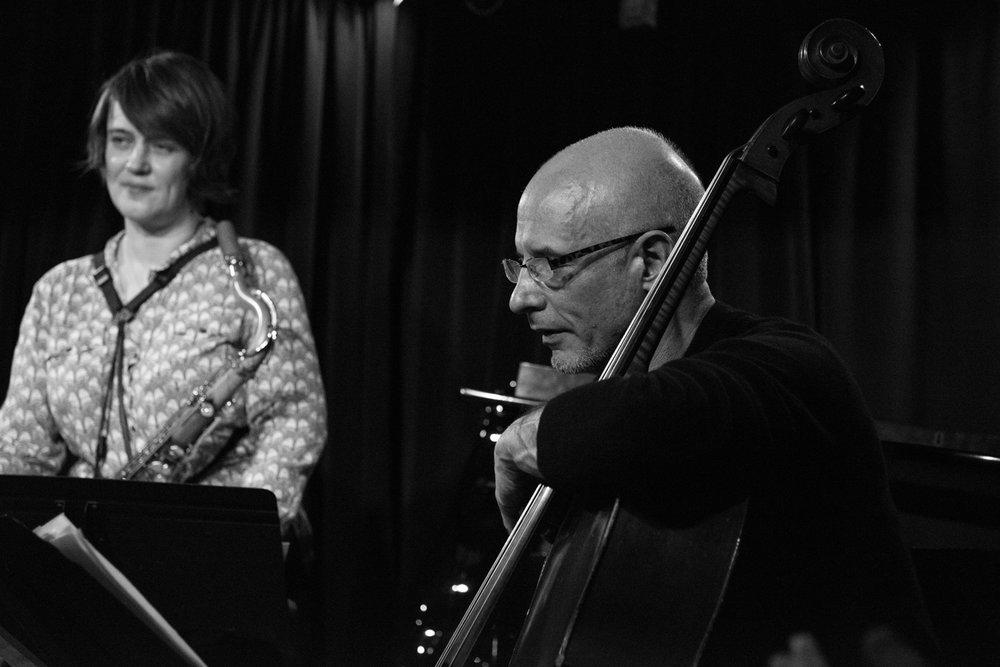 Ingrid Laubrock and Erik Friedlander, 2017