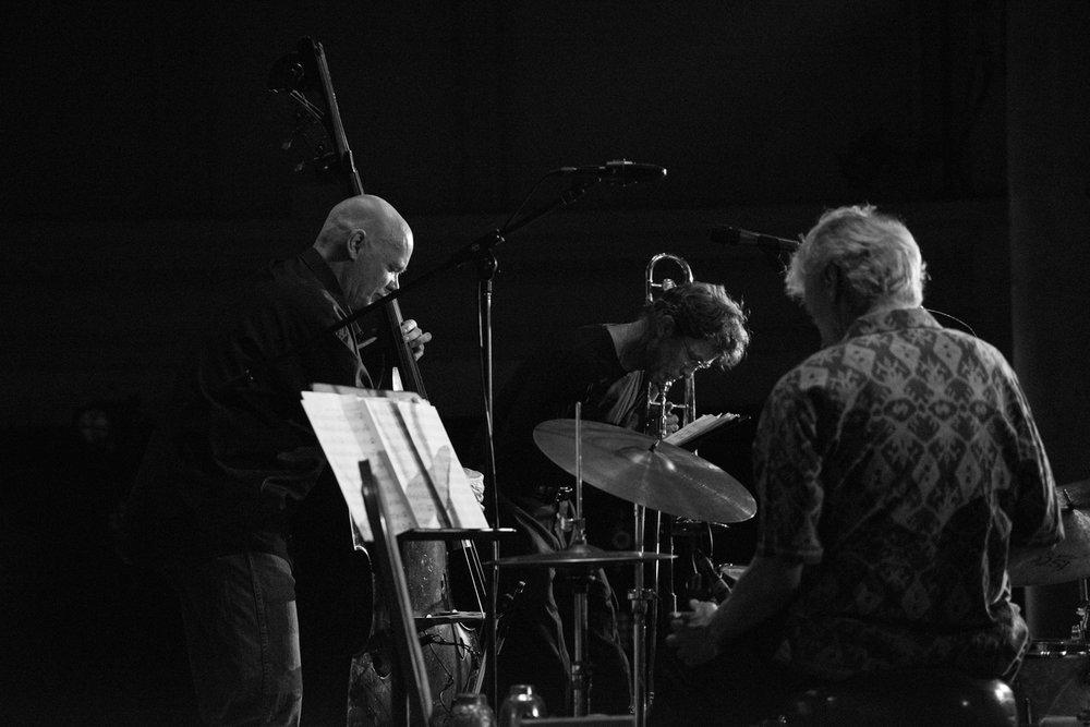 BassDrumBone: Mark Helias, Ray Anderson, Gerry Hemingway, 2017