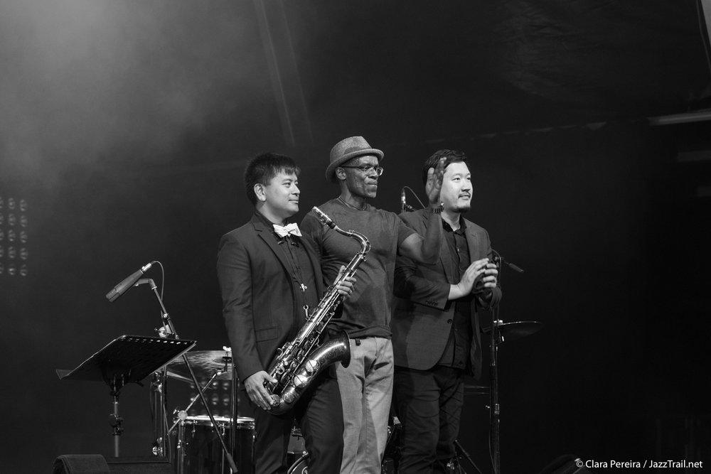 Jon Irabagon, Rudy Royston and Yasushi Nakamura, 2017
