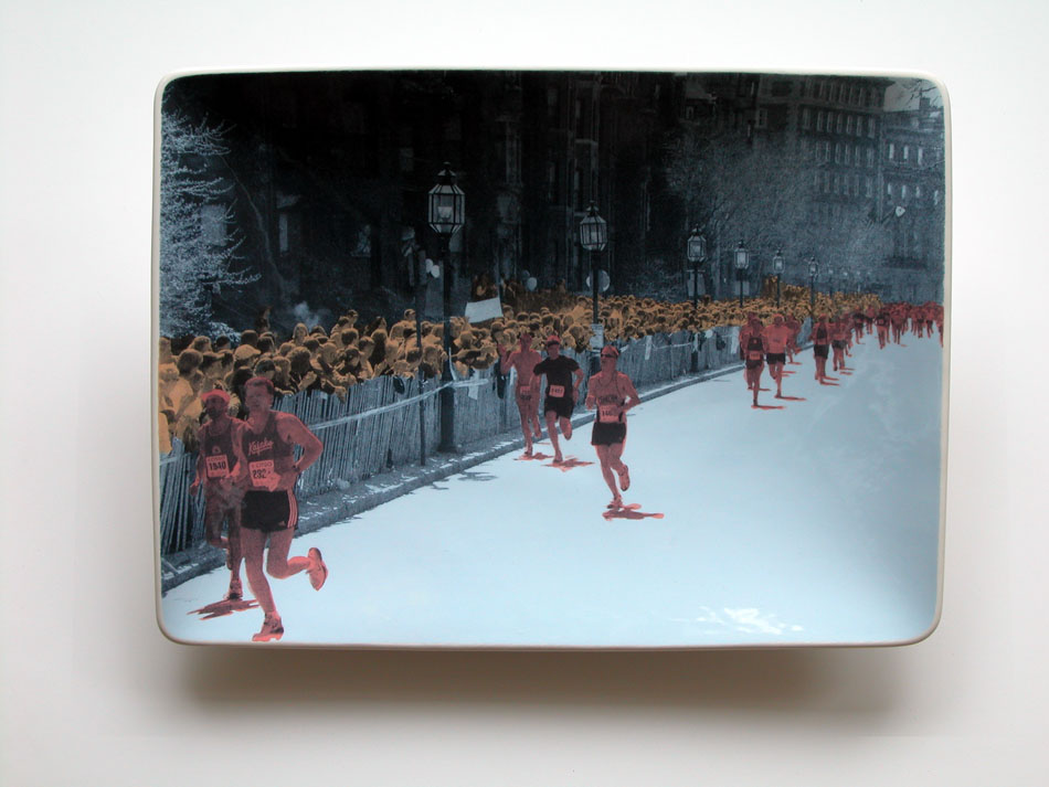 "Boston Marathon 18"" x 14"" x 2"""