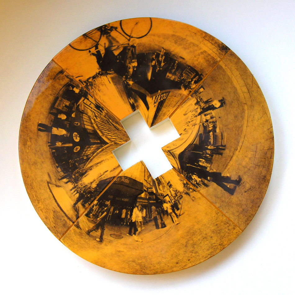 "Downtown Crossing     30.5"" diameter x 2"" deep"