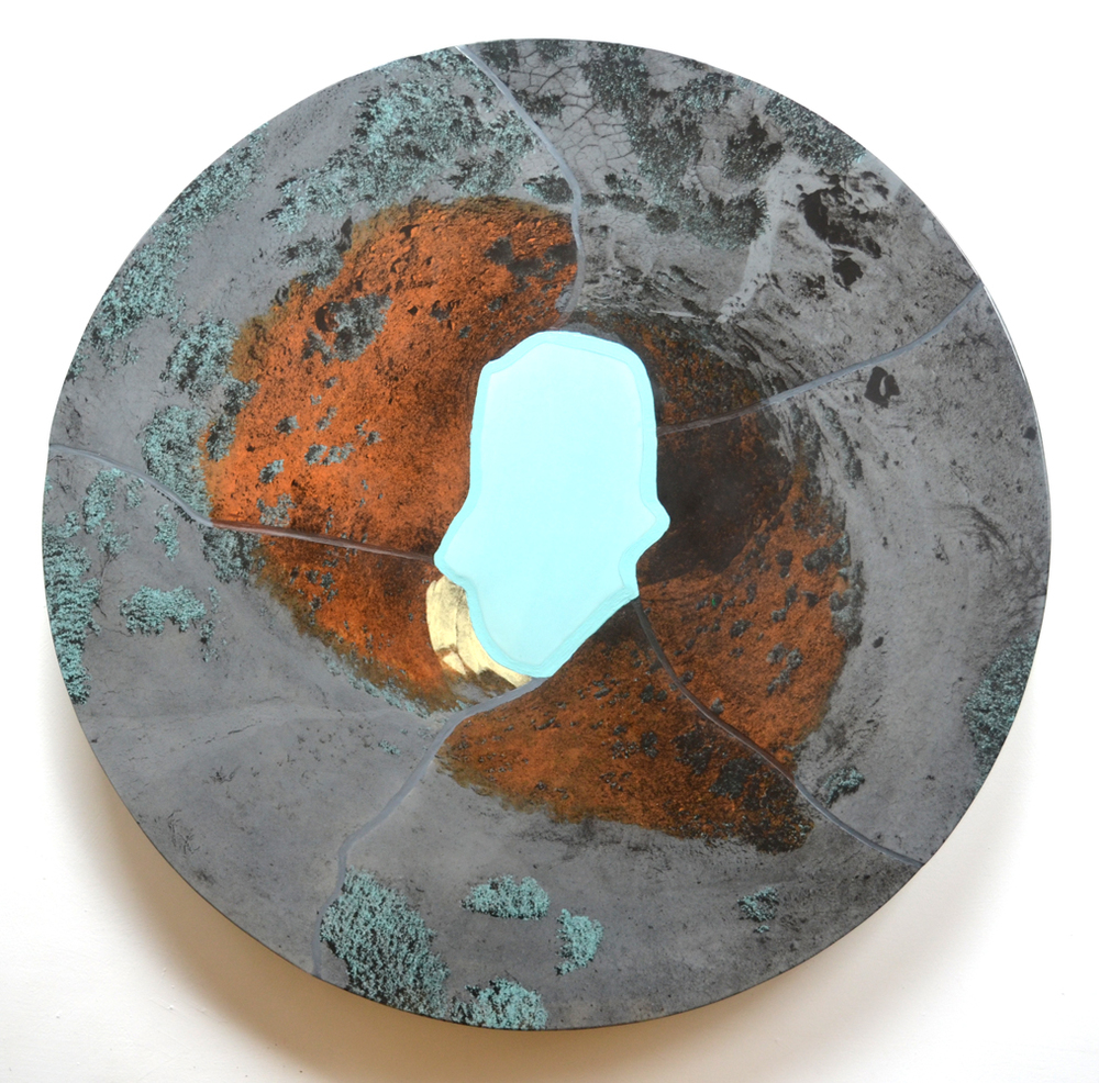 """Gunnison Adobes 31"""" diameter x 2"""" deep"""