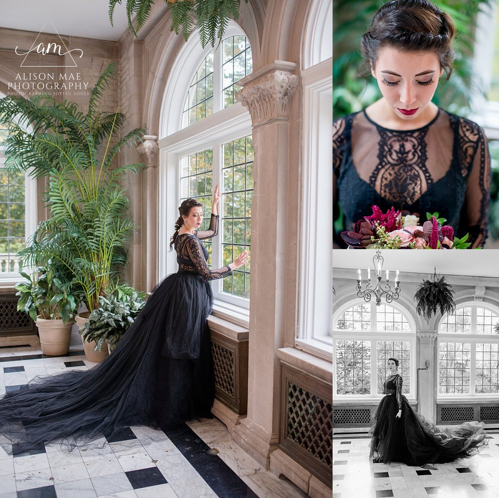 Laurel Hall - Gothic Wedding - Indianapolis, Indiana Wedding Photographer - Alison Mae Photography
