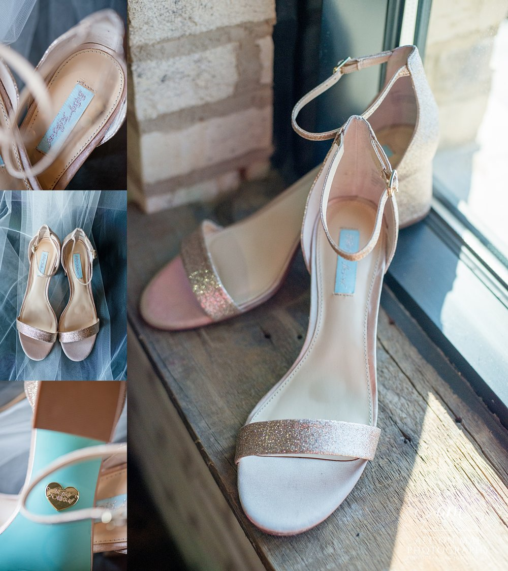 Ironworks Hotel Indianapolis, Indiana Wedding Photographer - Betsey Johnson Bridal Shoes
