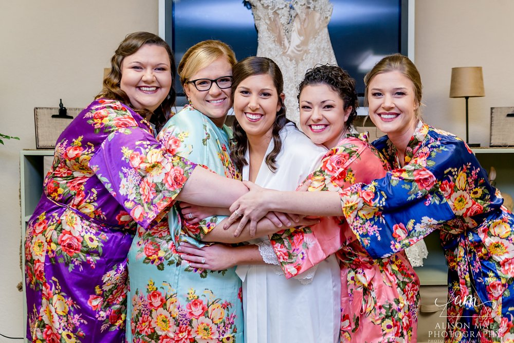Bride with her bridesmaids- Indiana Wedding Photographer