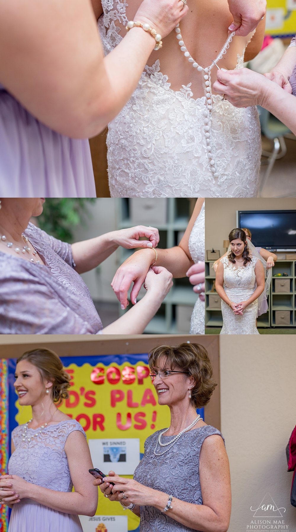 Bride getting ready for her wedding - Indiana Wedding Photographer
