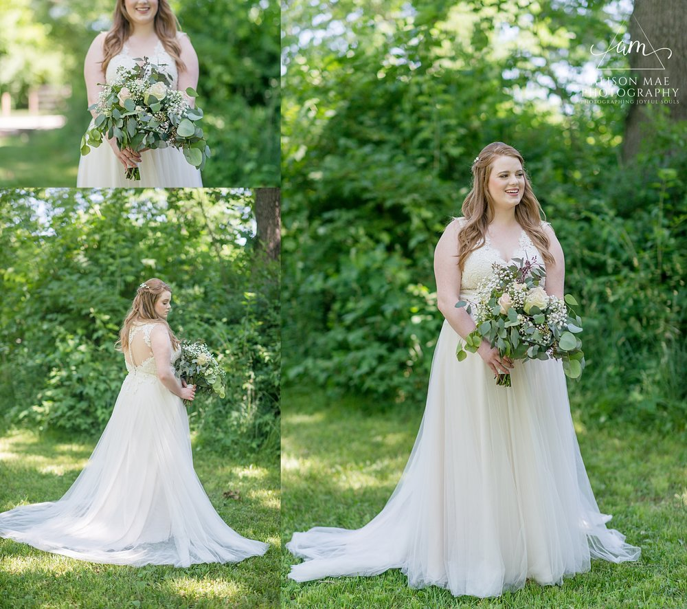 Romantic bridal portraits for Indiana brides and Indiana weddings