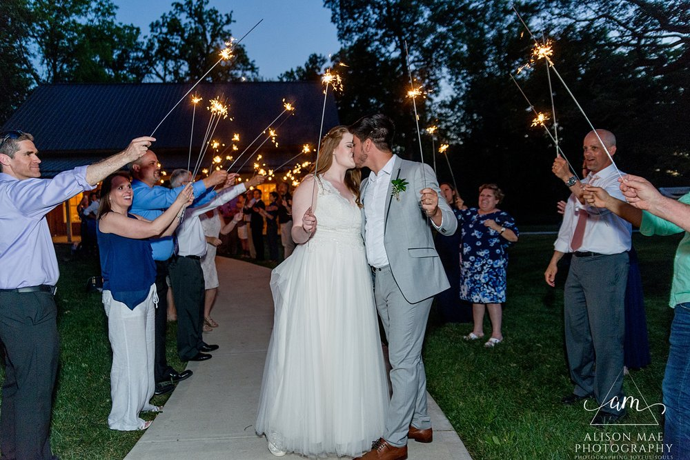 Sparkler exit - Indiana wedding photography - Alison Mae Photography