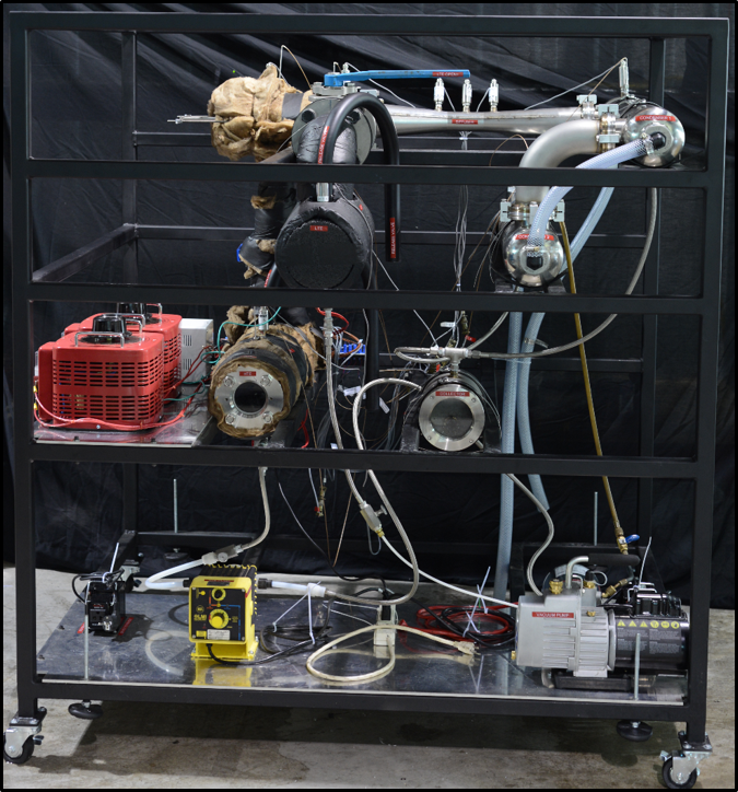 Pre-packaging of an ejector system built for research partner