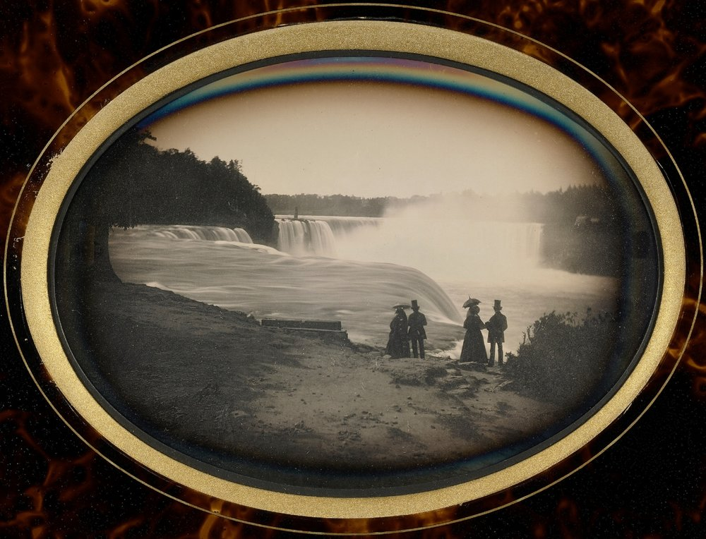 Platt D. Babbitt,  Scene at Niagara  (1848)