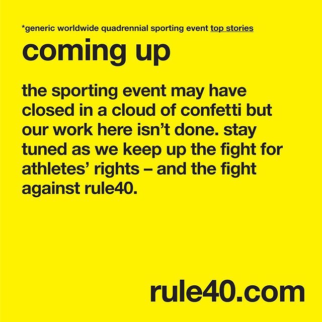 #olympics #ioc #bigbusiness #fairplay #roadtorio #rio2016 #athletesrights #rule40