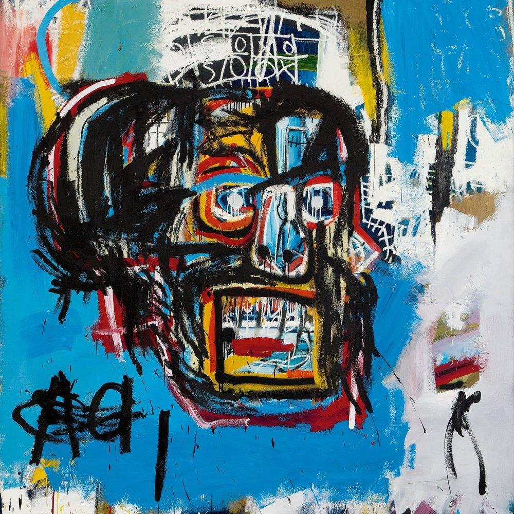 """Vente record de 85 millions € de l'oeuvre """"Untitled"""" par Jean-Michel Basquiat, aux enchères Sotheby's en Mais 2017"""
