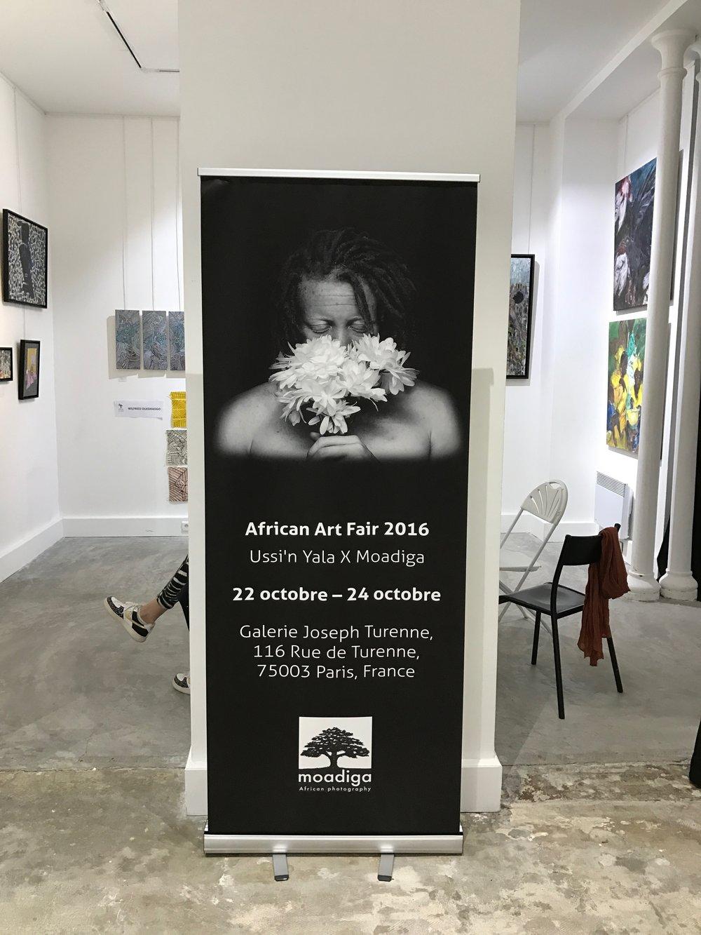Promotion Moadiga à l'African Art Fair, 2016
