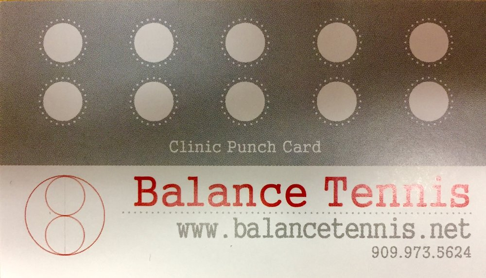 - When you purchase clinics online, you will receive a punch card. If you purchase 10 clinics, you will receive a free clinic.