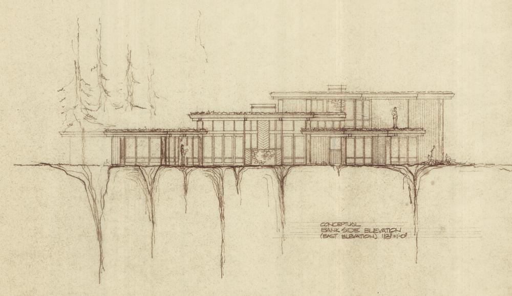 Original Plans - Conceptual Bank Side Elevation