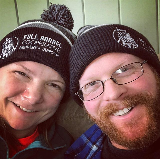 Our new winter hats are in! Snag yours today:  http://fullbarrel.coop/merch  #winterfashion #onfleek #vtbeer Hat models: FBC Board members, @khallquist08 and @mikeyt33