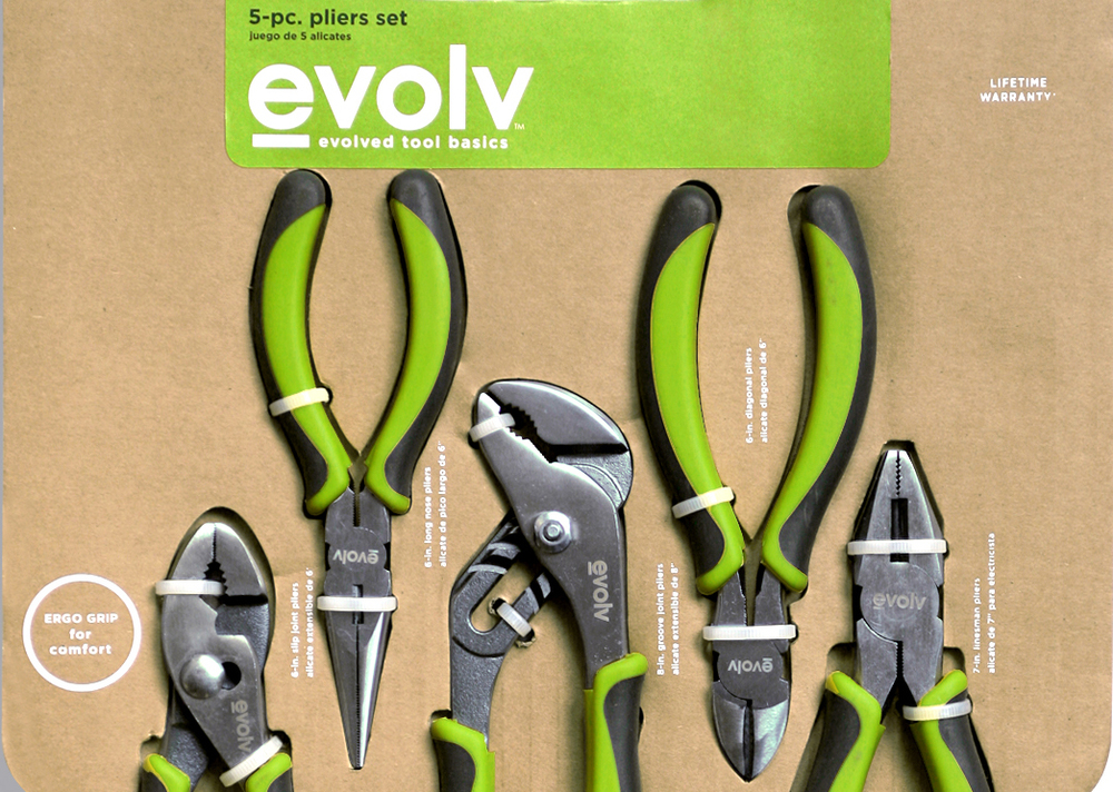Innovative packaging strategy using the most humble and common of materials. Evolv is a handyman (and woman) –friendly tool line from Sears.