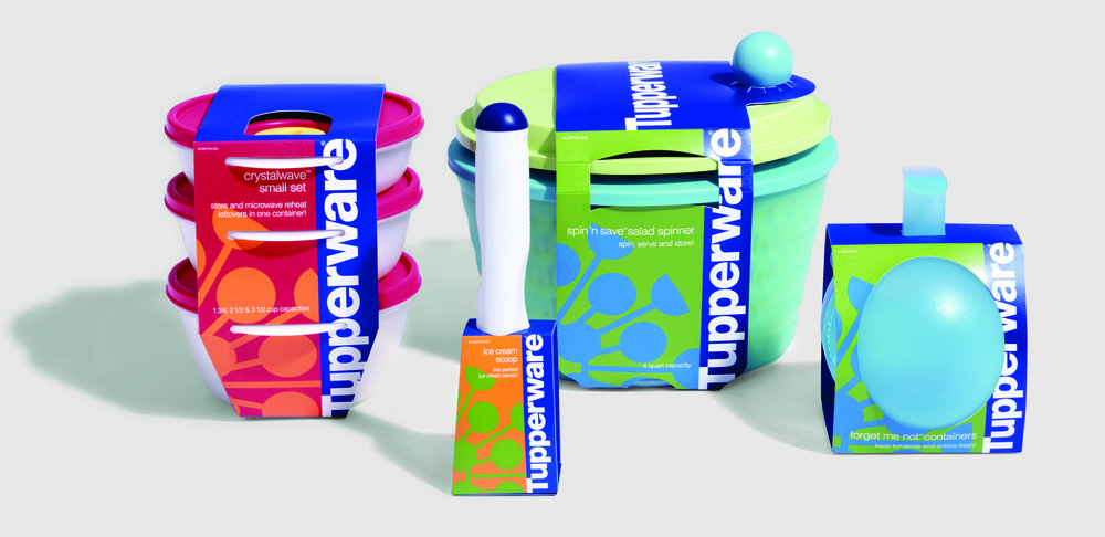A packaging strategy for an initiative to introduce select Tupperware product from various collections to a new generation at retail.