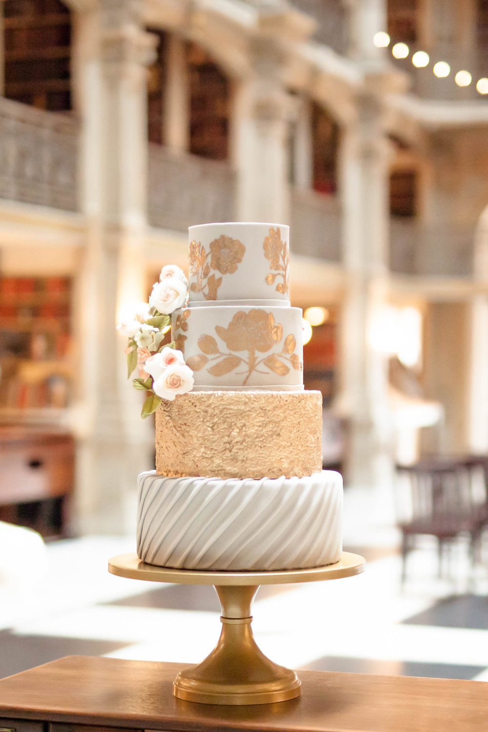 Styled Shoot Peabody Wedding Cake Flowers Phoenix MD
