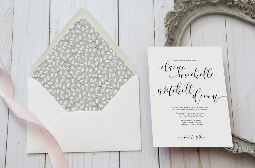 Custom Wedding Invitations. Simple wedding invitations. modern wedding invitations