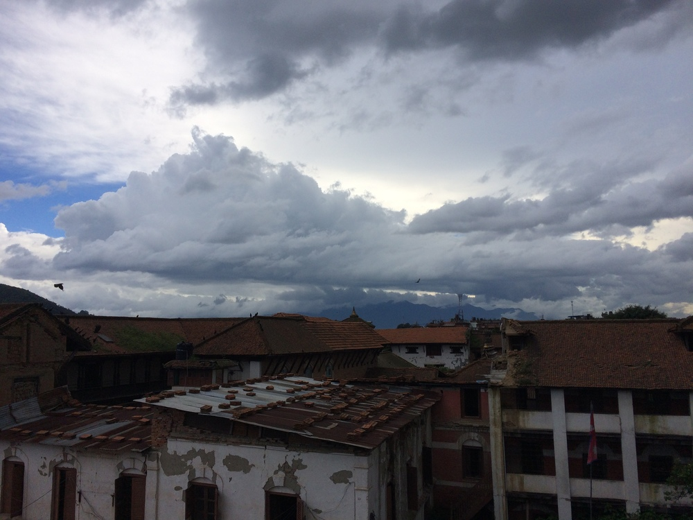 Monsoon clouds building over Bhaktapur