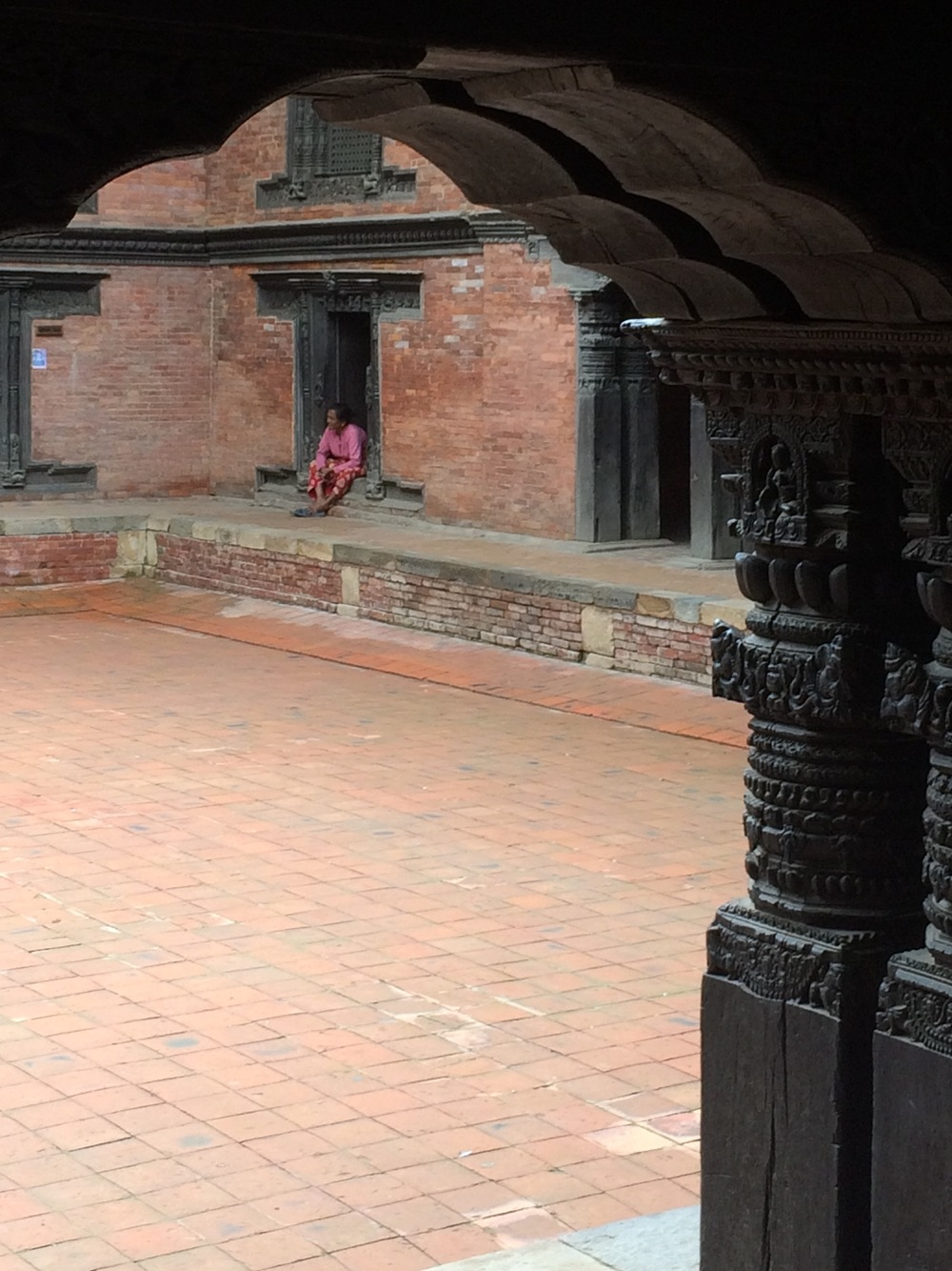 Hanging out at Patan Museum