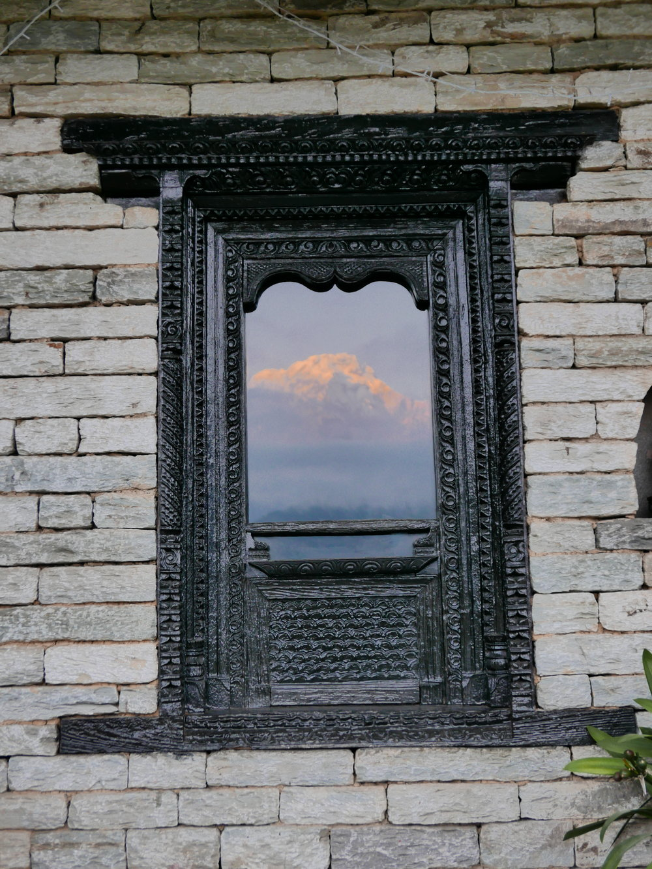 Annapurna South in the rising sun