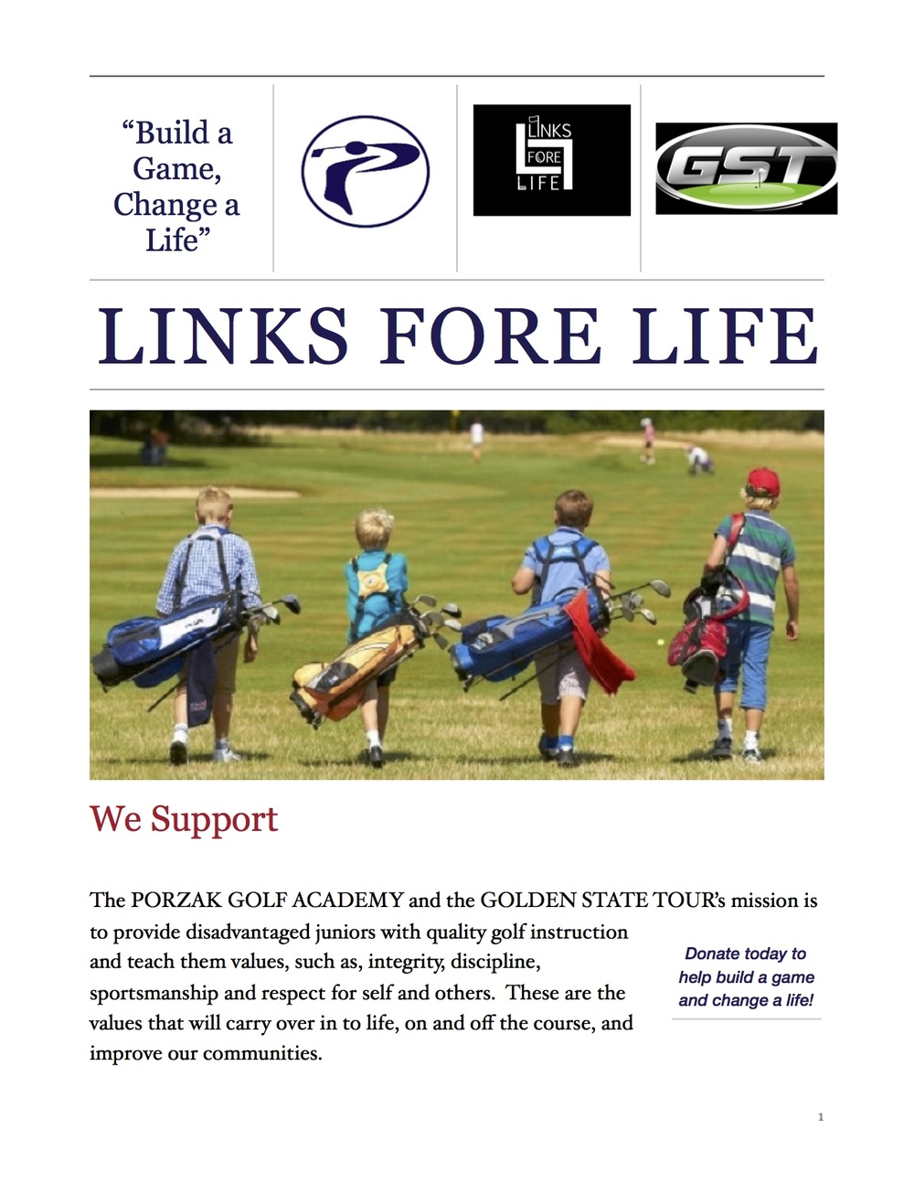 CLICK HERE TO DONATE.  100% OF DONATIONS GO TO LINKS FORE LIFE ~ THANK YOU FOR YOUR SUPPORT,