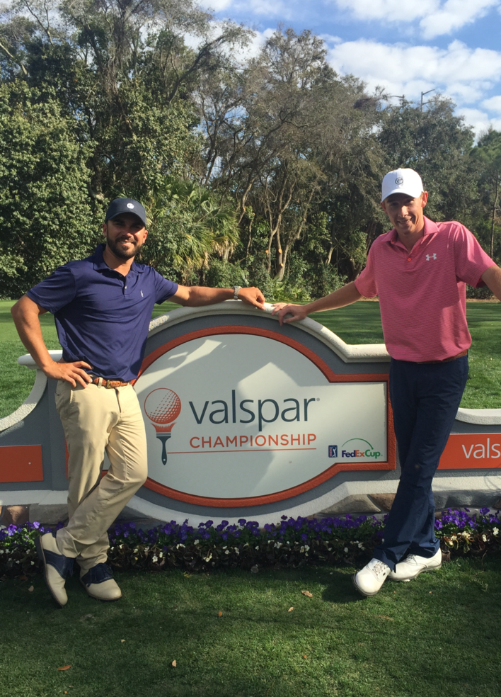 Adam Porzak and Lee McCoy at the 2016 Valspar Championship